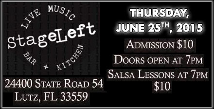 Salsa Lessons at Stage Left -  June 25, 2015